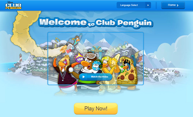 club penguin disney online game network
