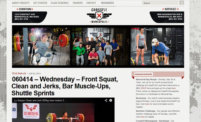 crossfit minneapolis website design grunge background