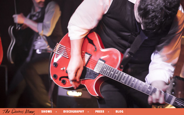 the devious means website layout