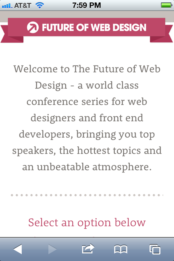 responsive future of web design