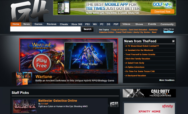 techtv g4tv g4 gaming channel website
