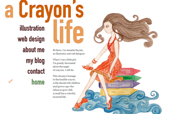 portfolio illustrations for Jesette Dayate Crayon blog design