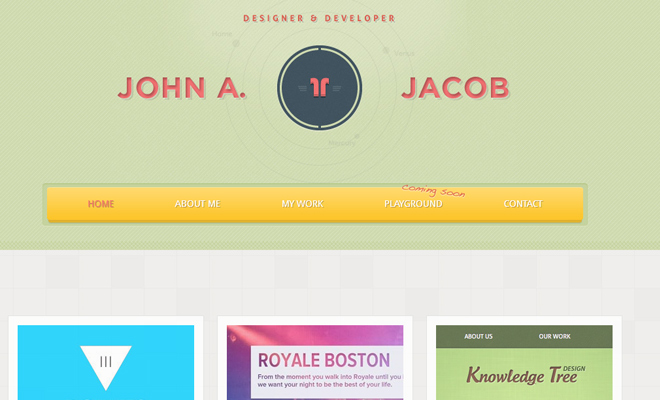 john alex jacob green portfolio responsive website design