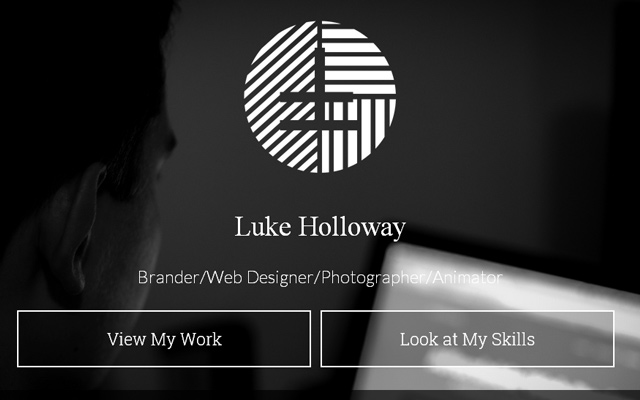 luke holloway personal dark grey website layout portfolio