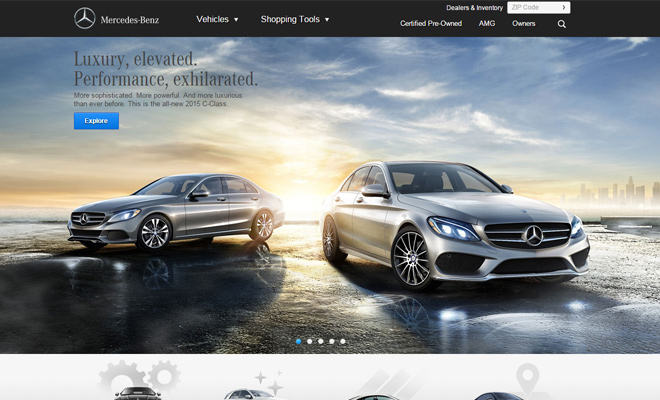 luxury car website  32 Inspiring Websites for Automotive Companies