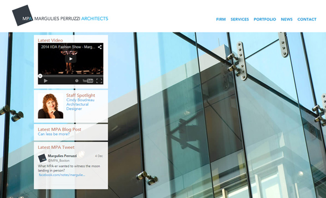margulies parruzzi architecture firm web design