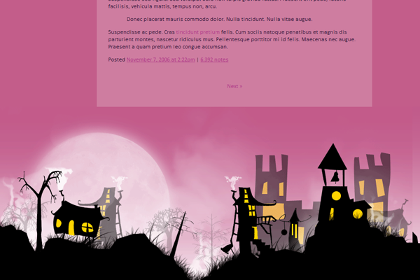 Pink Blog Theme Strage Little Town