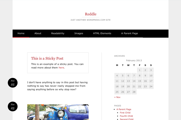 reddle website ui interface design layout