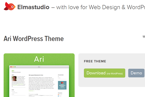 Responsive Ari WordPress theme freebie download