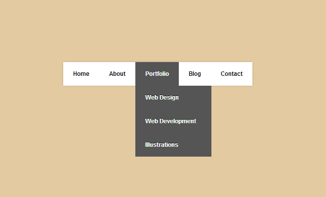 simple css3 menu dropdown navigation