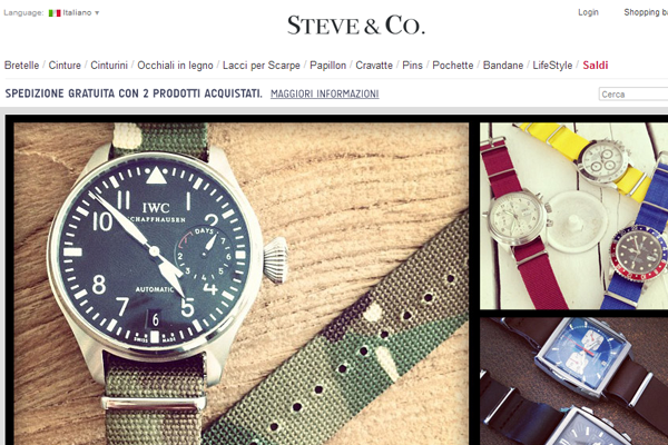 Steve & Company watches premium ecommerce layout