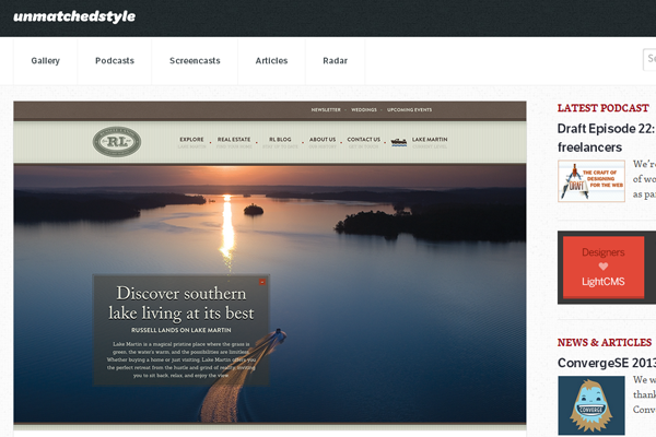 unmatched style website gallery inspiration