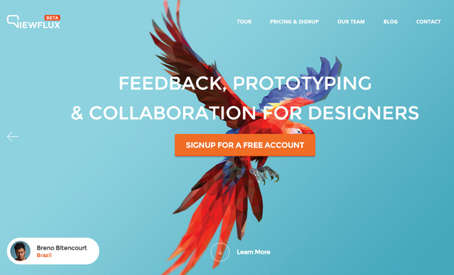 viewflux feedback prototyping website header dynamic