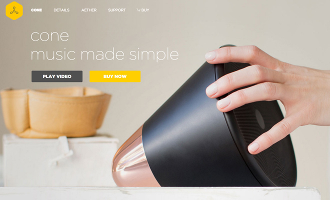 aether cone audio speakers gadgets homepage