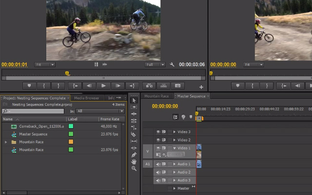 nesting sequences video tutorial premiere pro