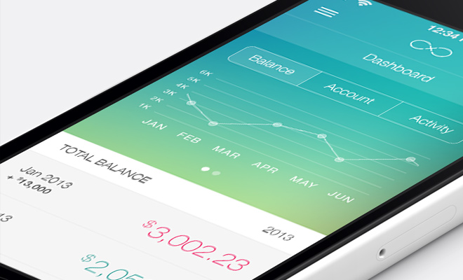 ios7 banking app ui design inspiration