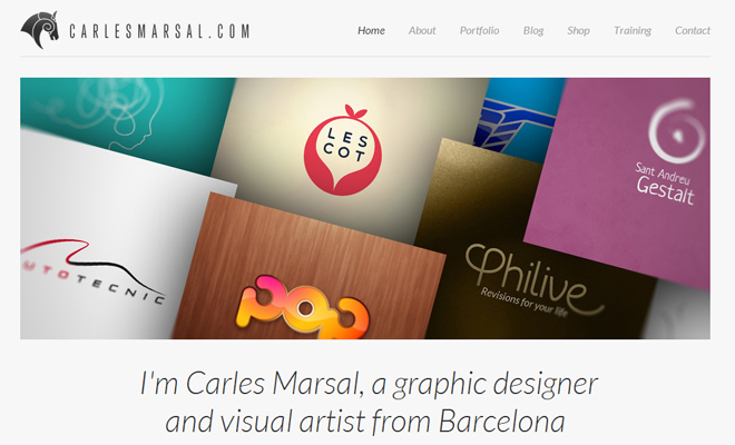carles marsal portfolio website layout graphic designer