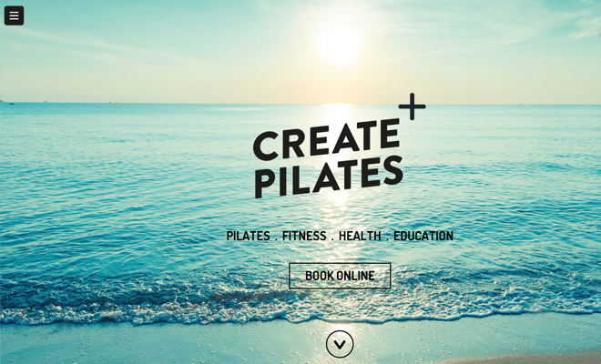 create pilates health fitness website layout