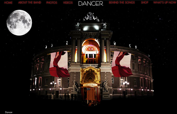 dancer band website flash layout