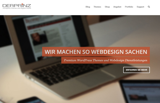 der prinz website homepage design german layout