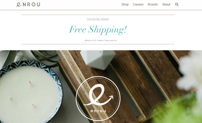 enrou custom shopify website design
