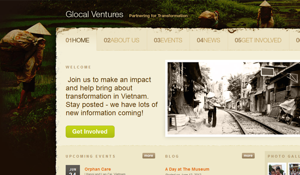 Online Glocal Ventures business webdesign