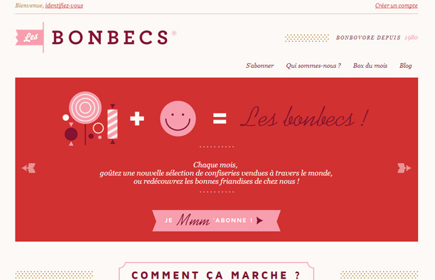les bonbecs website red clean inspiring layout