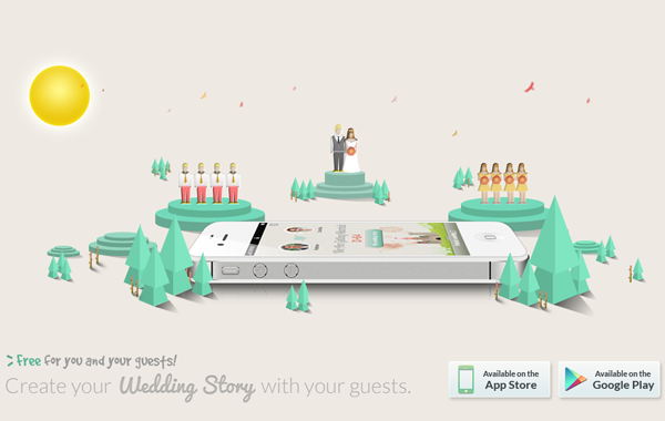 merrymarry iphone ios app wedding mobile landing page