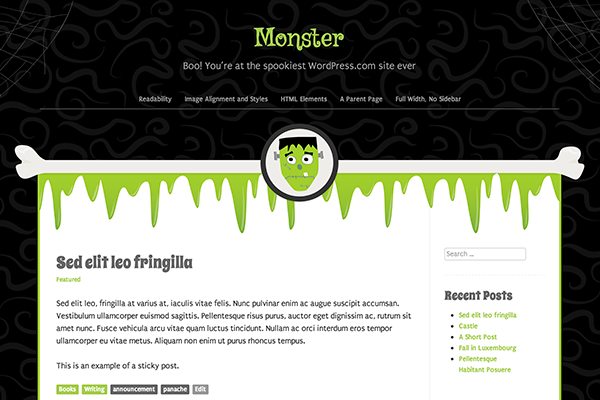 responsive monster wordpress theme automattic