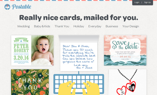 postable mailed cards design