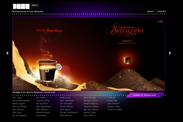 online digital purple design studio website homepage