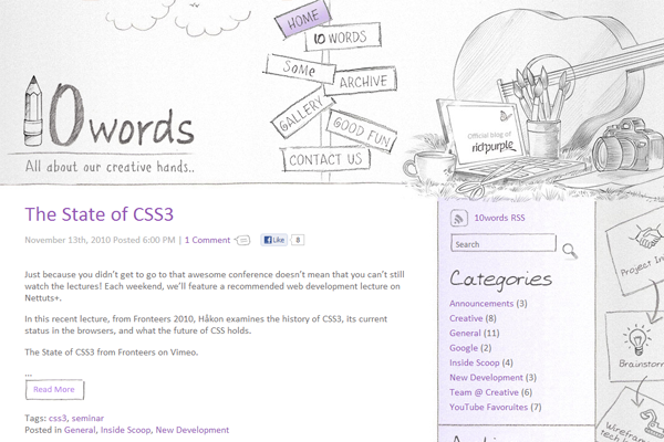 10 words website interface illustrations rich purple