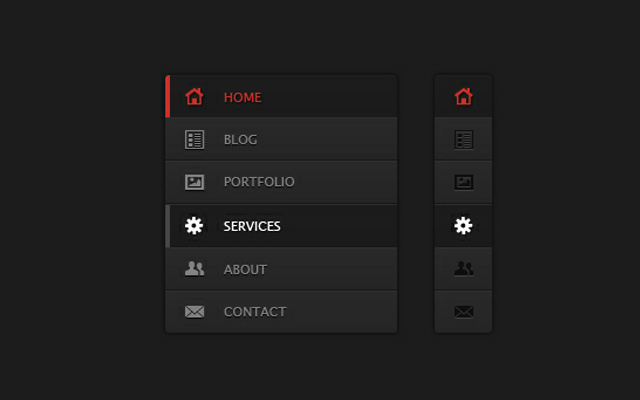 responsive website psd navigation freebie