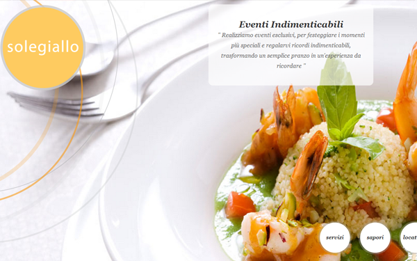 restaurant fancy website big background layout effects