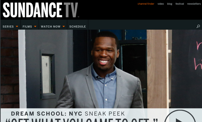 sundance television channel website homepage