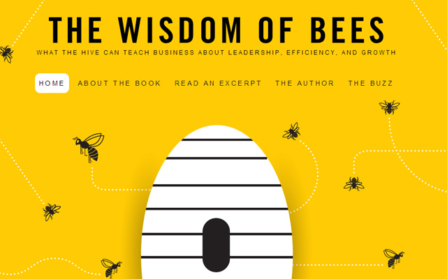 the wisdom of bees yellow website inspiration