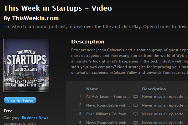 this week in startups podcast itunes show