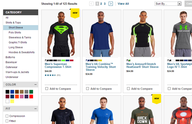 under armour website ecommerce shop products list