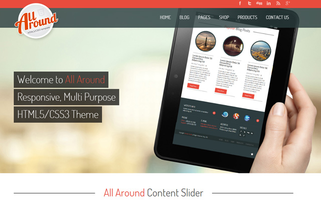 all around website html5 responsive theme