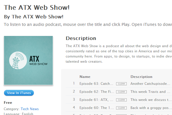 austin texas web design show podcast