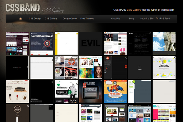 cssband website gallery showcase ideas