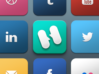 gradient big buttons freebie icons set socialmedia