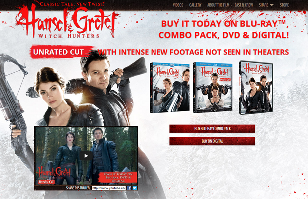 hansel gretel movie website layout