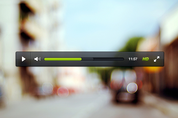 hd hidef video player ui designs