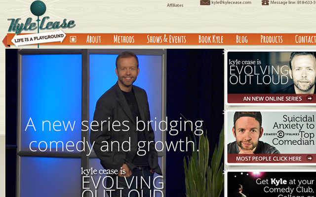 kyle cease comedian speaker personal website homepage