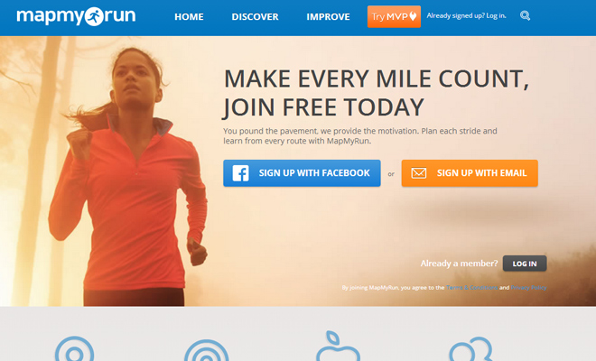 map my run website tracking social webapp website