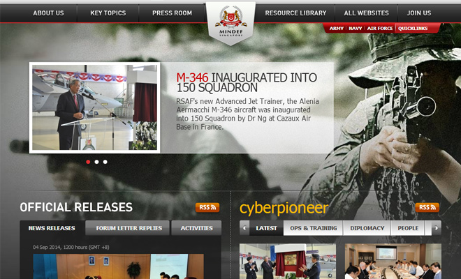 ministry of defence singapore website