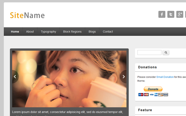 basic Drupal template theme responsive blogging article theme