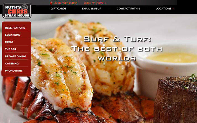ruth chris steakhouse restaurant design inspiration