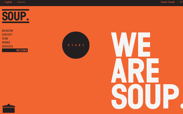 we are soup agency homepage animation single layout